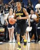 Het basketbalspeler #3 Trey Burke van Michigan stock afbeelding
