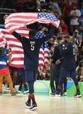 Het basketbalteam van de V.S. stock foto's
