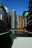 Het Bassin van Paddington in Londen stock afbeeldingen