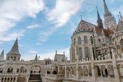 Het Bastion van de visser in Boedapest, Hongarije Royalty-vrije Stock Afbeeldingen