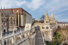 Het Bastion van de visser in Boedapest, Hongarije Stock Foto