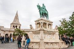 Het bastion van de visser in Boedapest, Hongarije royalty-vrije stock foto