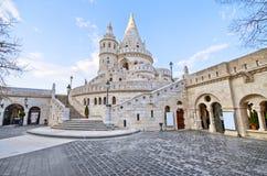 Het bastion van de visser in Boedapest, Hongarije Stock Afbeeldingen