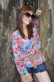 Het bautiful meisje van de hippie Royalty-vrije Stock Foto's
