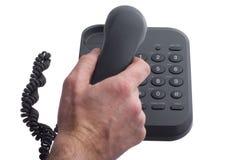 Het beantwoorden van telefoon royalty-vrije stock afbeeldingen