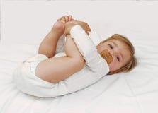 Het bed van de baby. royalty-vrije stock afbeeldingen
