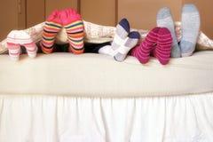 Het Bed van de familie Royalty-vrije Stock Afbeelding