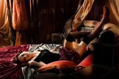 Het bed van de luxe Stock Foto