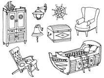 Het bed van het merriemeubilair vector illustratie
