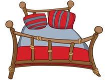 Het Bed van het Meubilair van het Huis van het beeldverhaal Royalty-vrije Stock Fotografie
