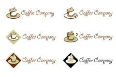 Het Bedrijf van de koffiebar - Embleem en Merk voor Koffie Stock Foto
