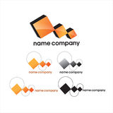 Het bedrijf van het embleem Stock Afbeeldingen