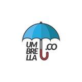 Het bedrijf van het parapluembleem royalty-vrije stock afbeeldingen