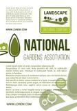 Het bedrijf vectoraffiche van het tuinlandschap Royalty-vrije Stock Foto