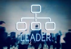 Het Bedrijfconcept van leidersorganization chart business Royalty-vrije Stock Afbeelding
