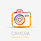 Het bedrijfembleem van het camerapictogram, bedrijfssymboolconcept Royalty-vrije Stock Fotografie