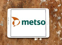 Het bedrijfembleem van Metso industrieel machines Stock Foto's