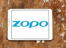 Het bedrijfembleem van Zoposmartphone stock afbeeldingen