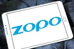 Het bedrijfembleem van Zoposmartphone stock foto
