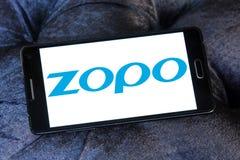 Het bedrijfembleem van Zoposmartphone stock foto's