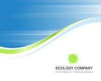 Het bedrijfmalplaatje van de ecologie Stock Afbeelding