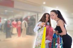 Het bedrijfs dame winkelen royalty-vrije stock foto