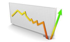 Het bedrijfs grafiek terugkrijgen Royalty-vrije Stock Afbeelding