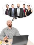 Het bedrijfs mens denken stock foto