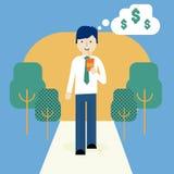 Het bedrijfs mens denken royalty-vrije stock afbeelding