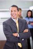 Het bedrijfs mens glimlachen Stock Afbeeldingen