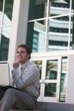 Het bedrijfs mens werken royalty-vrije stock foto
