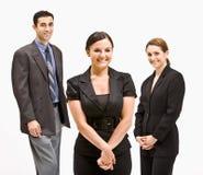 Het bedrijfs mensen glimlachen Stock Afbeelding