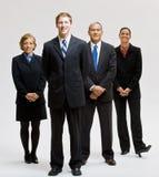 Het bedrijfs mensen glimlachen Stock Afbeeldingen