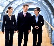 Het bedrijfs mensen lopen Stock Foto