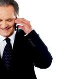 Het bedrijfs professionele communiceren via telefoon Stock Afbeeldingen