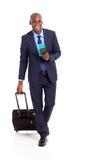 Het bedrijfs reiziger lopen Stock Fotografie