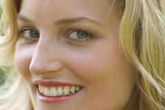 Het bedrijfs vrouw glimlachen stock foto