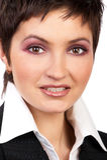 Het bedrijfs vrouw glimlachen. Royalty-vrije Stock Fotografie