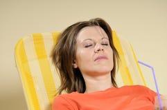 Het bedrijfs vrouw ontspannen Royalty-vrije Stock Foto