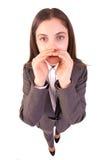 Het bedrijfs vrouw schreeuwen Stock Foto's