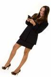 Het bedrijfs vrouw texting Royalty-vrije Stock Fotografie