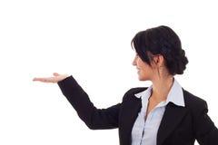 Het bedrijfs vrouw voorstellen stock foto