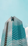 Het bedrijfsbureaugebouw Stock Foto's
