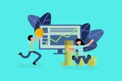 Het bedrijfsconceptensucces stock illustratie