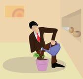 Het bedrijfsmens groeien geld royalty-vrije illustratie