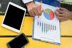 Het bedrijfsmens readding Stock Foto's