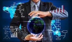 Het bedrijfsmens schrijven het concept bedrijfsproces verbetert royalty-vrije stock afbeeldingen
