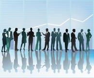 Het bedrijfsmensen communiceren Stock Foto