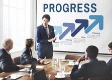 Het bedrijfsstrategie Brandmerken Planningsconcept stock foto