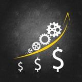 Het bedrijfssucces van de bedrijfseconomie en royalty-vrije illustratie